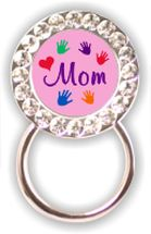 Rhinestone Eyeglass Holder: Mom