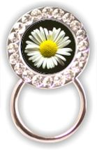 Rhinestone Eyeglass Holder: Daisy