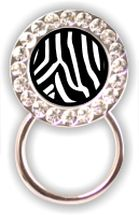 Rhinestone Eyeglass Holder: Zebra Print