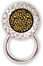 Rhinestone Eyeglass Holder: Leopard Print
