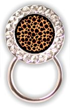 Rhinestone Eyeglass Holder: Cheetah Print