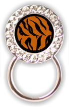 Rhinestone Eyeglass Holder: Tiger Print