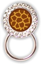 Rhinestone Eyeglass Holder: Giraffe Print