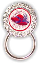 Rhinestone Eyeglass Holder: Red Hat
