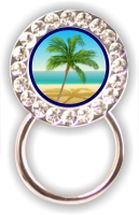 Rhinestone Eyeglass Holder: Palm Tree
