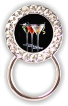 Rhinestone Eyeglass Holder: Martinis