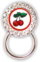 Rhinestone Eyeglass Holder: Cherries