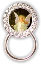 Rhinestone Eyeglass Holder: Guardian Angel