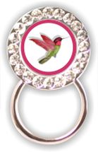 Rhinestone Eyeglass Holder: Hummingbird