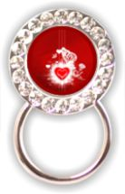Rhinestone Eyeglass Holder: Valentines Day
